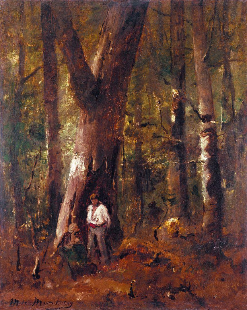 Михай Либ Мункачи. Двое в лесу
