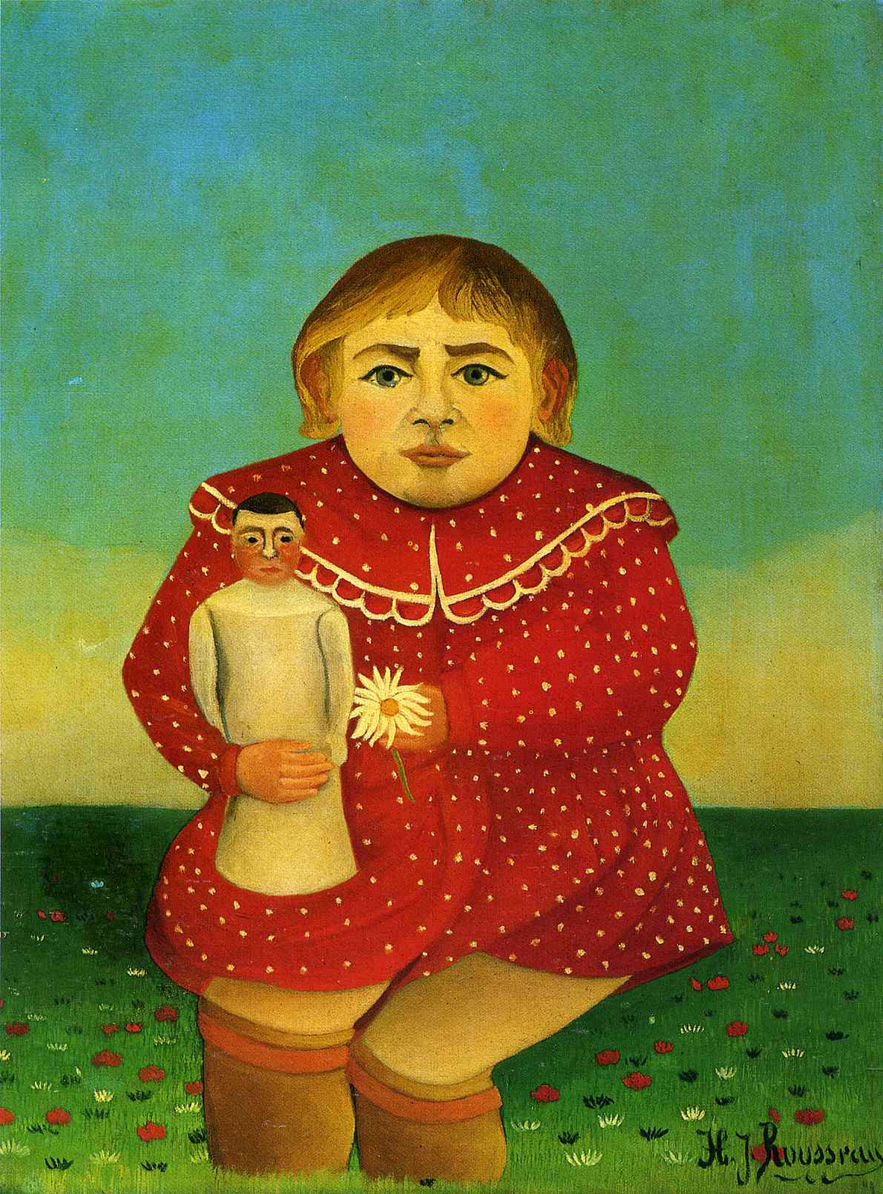 Henri Rousseau. Girl with a doll