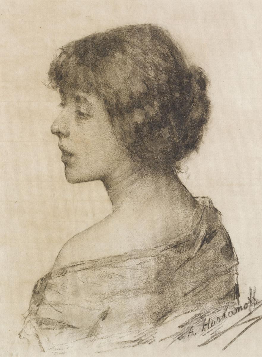 Алексей Алексеевич Харламов Россия 1840 - 1923. Женский портрет.