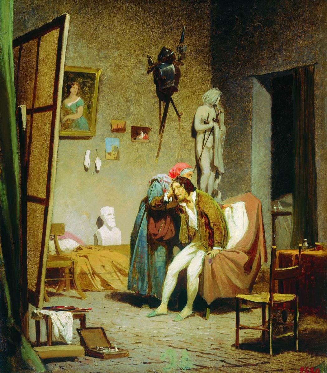 Fedor Andreevich Bronnikov. Sick artist. 1861