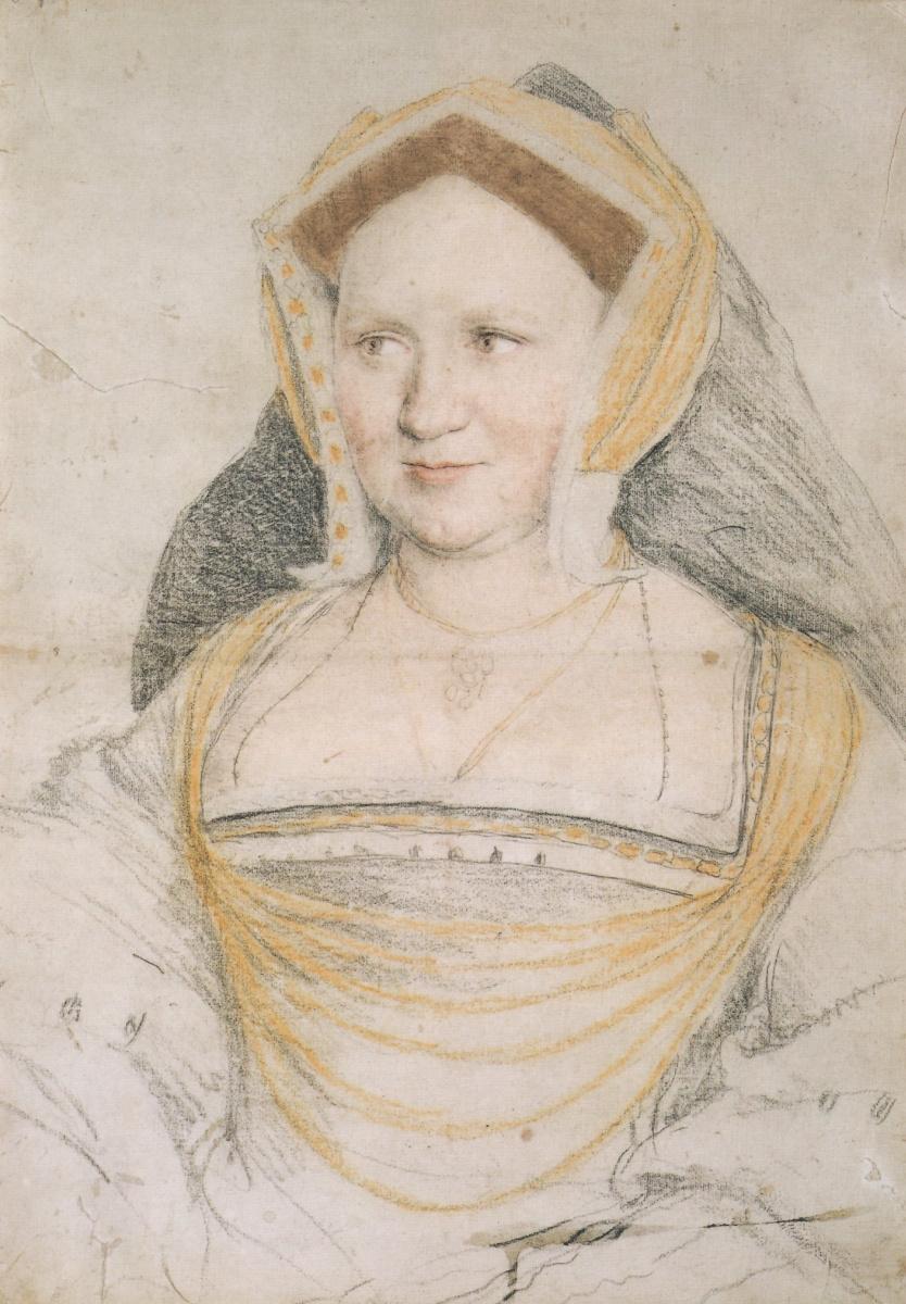 Ганс Гольбейн Младший. Портрет-эскиз Мэри, леди Гилдфорд, урожденной Уоттон