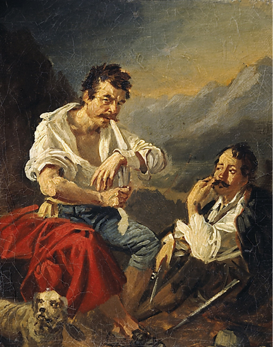 Alexander Osipovich Orlovsky. Bandaging wounds after the battle. State Tretyakov Gallery, Moscow