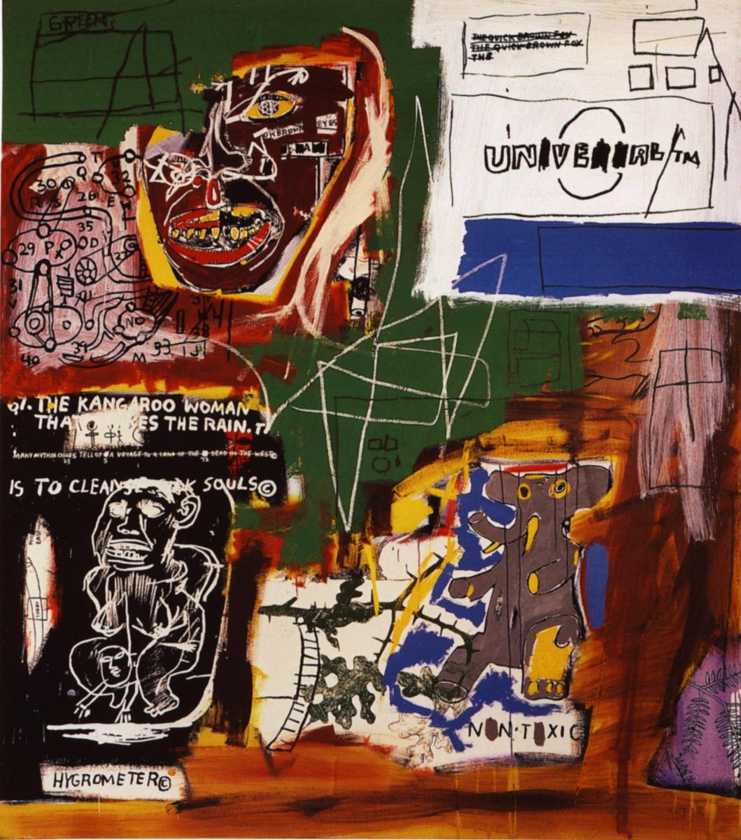 Jean-Michel Basquiat. Sienna