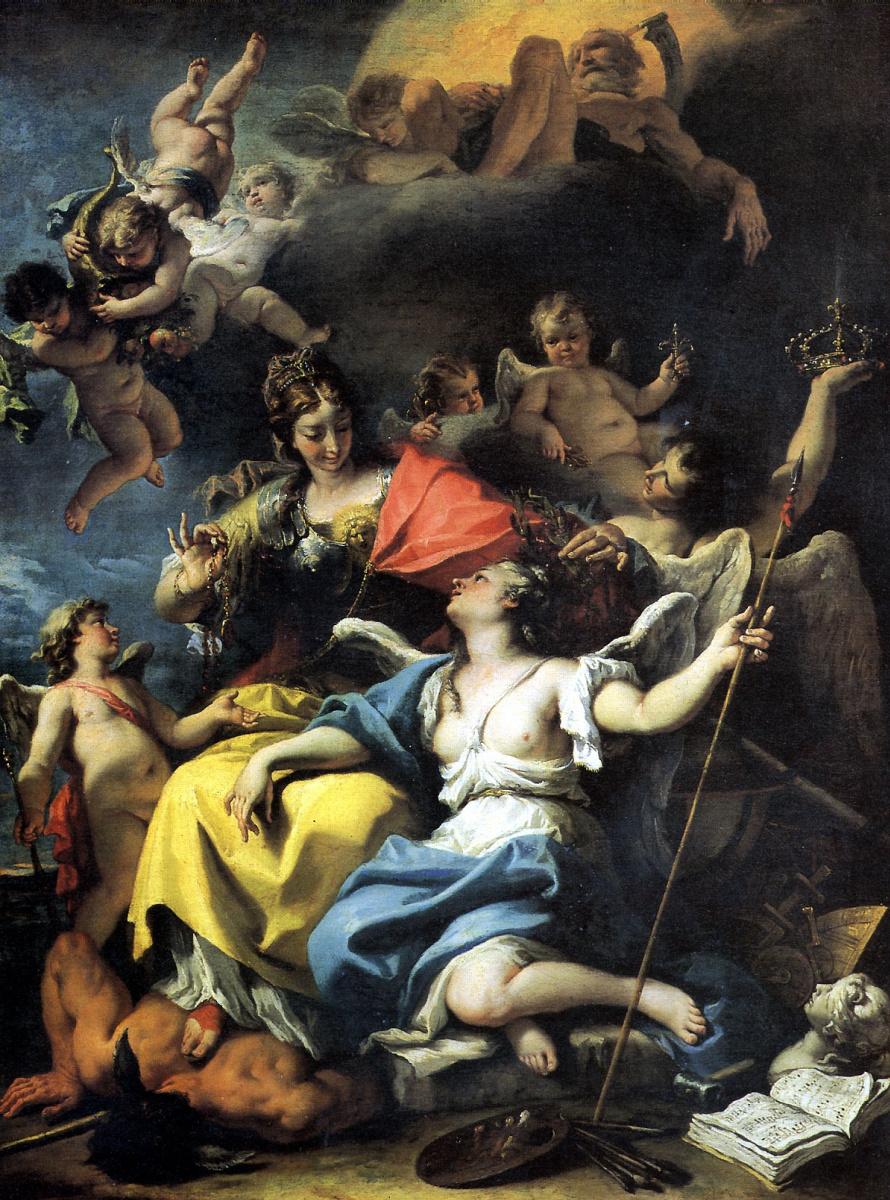 Себастьяно Риччи. Аллегория Франции в образе Минервы