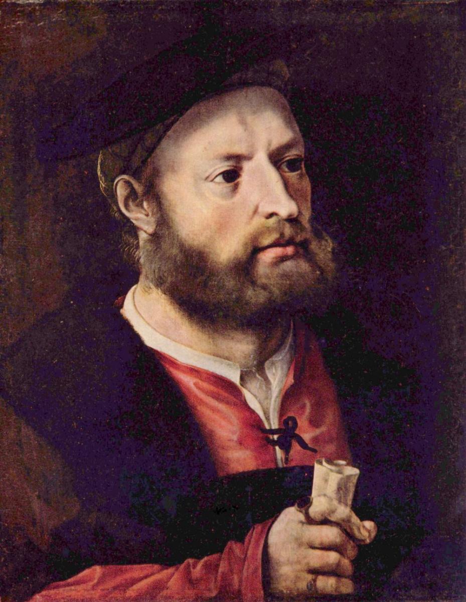 Ян Госсарт. Мужской портрет