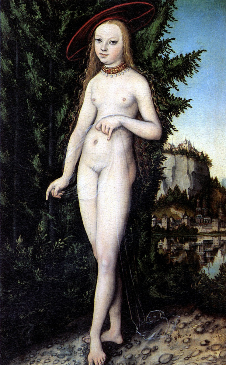 Лукас Кранах Старший. Венера на фоне пейзажа