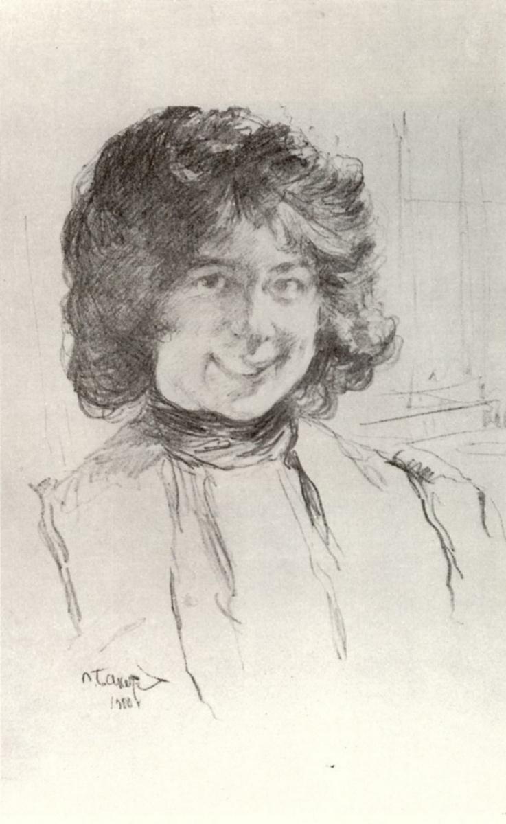 Lev Samoilovich Bakst (Leon Bakst). Portrait Of Anna Benois