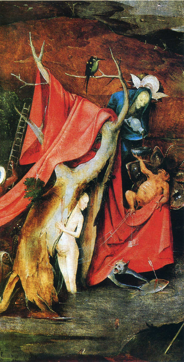 Иероним Босх. Искушение Святого Антония. Правая створка триптиха. Фрагмент