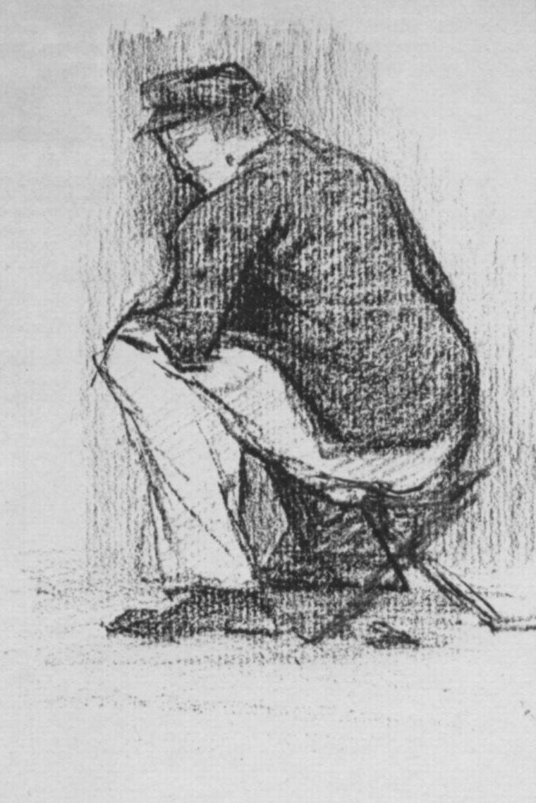 Жорж Сёра. Солдат на складном стуле