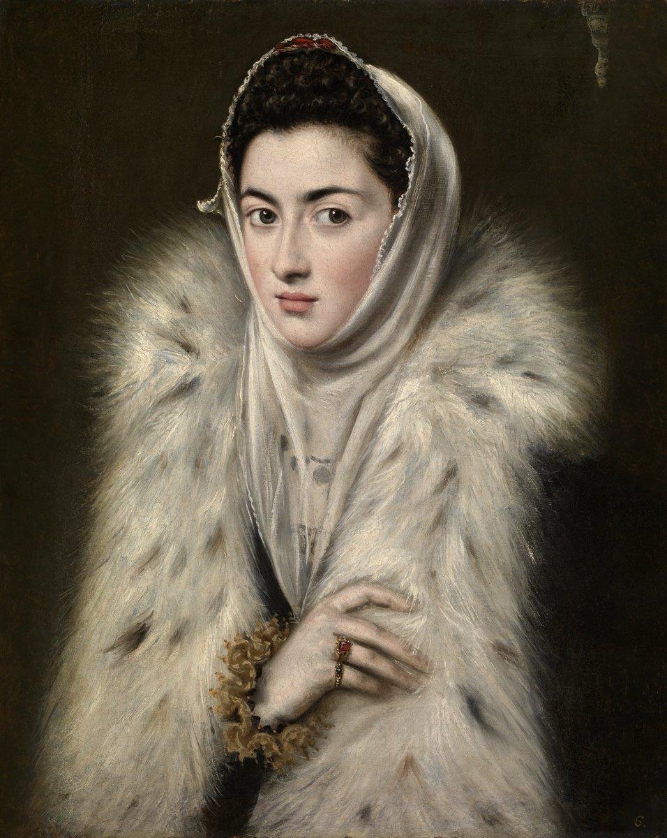 Alonso Sanchez Coello. The Lady in a Fur Wrap