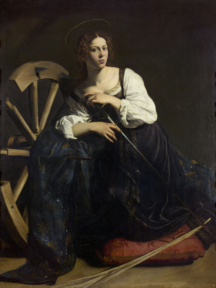 Микеланджело Меризи де Караваджо. Святая Екатерина Александрийская