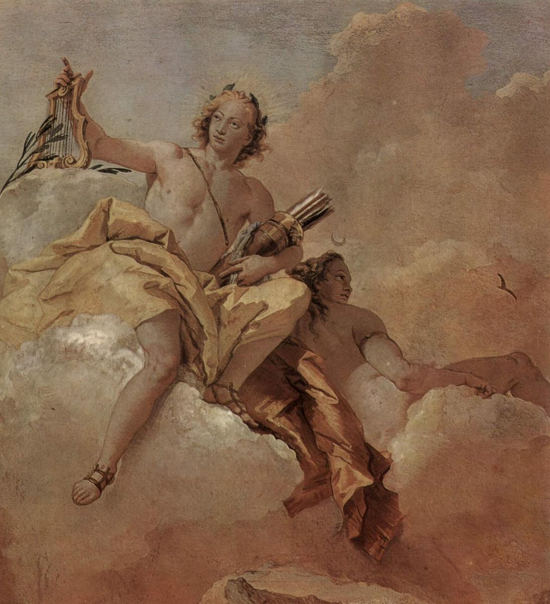 Джованни Баттиста Тьеполо. Аполлон и Диана. Фрески из виллы Валлмарана, Виченца