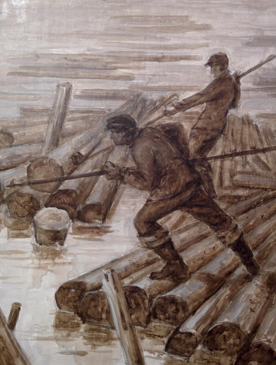 Arkady Pavlovich Laptev. The wood rafters