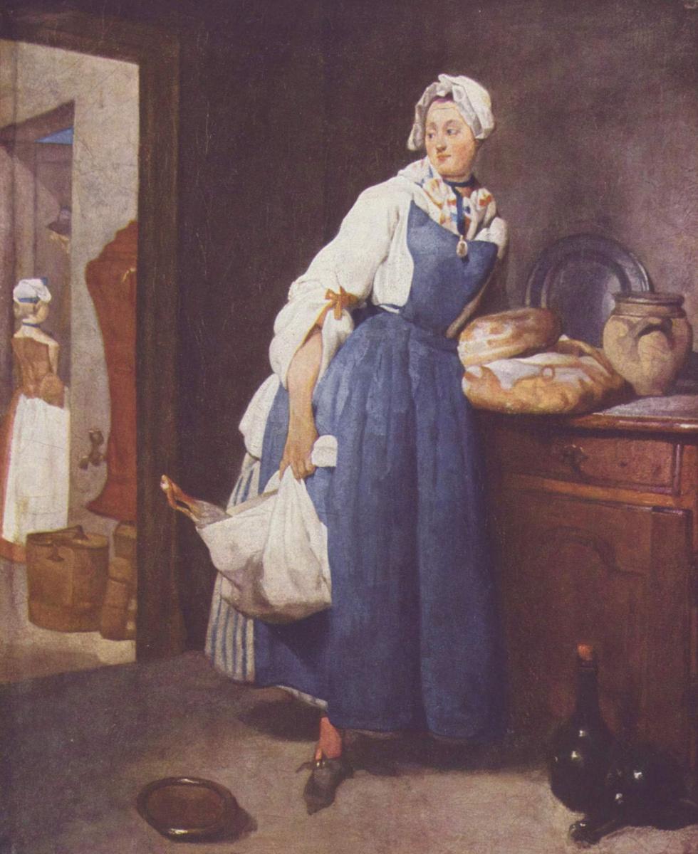 Jean Baptiste Simeon Chardin. A peddler. The return from the market