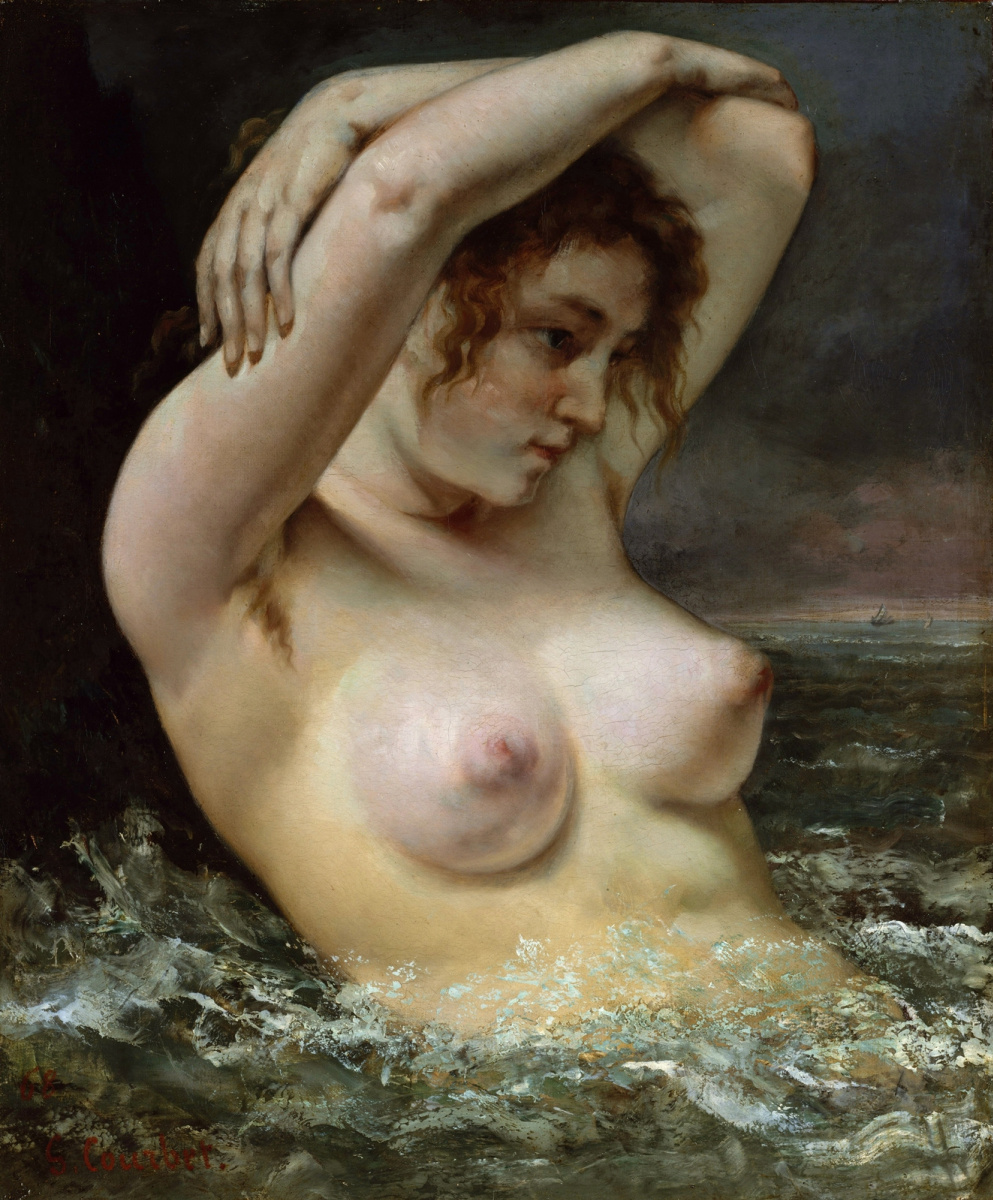 Gustave Courbet. Bather