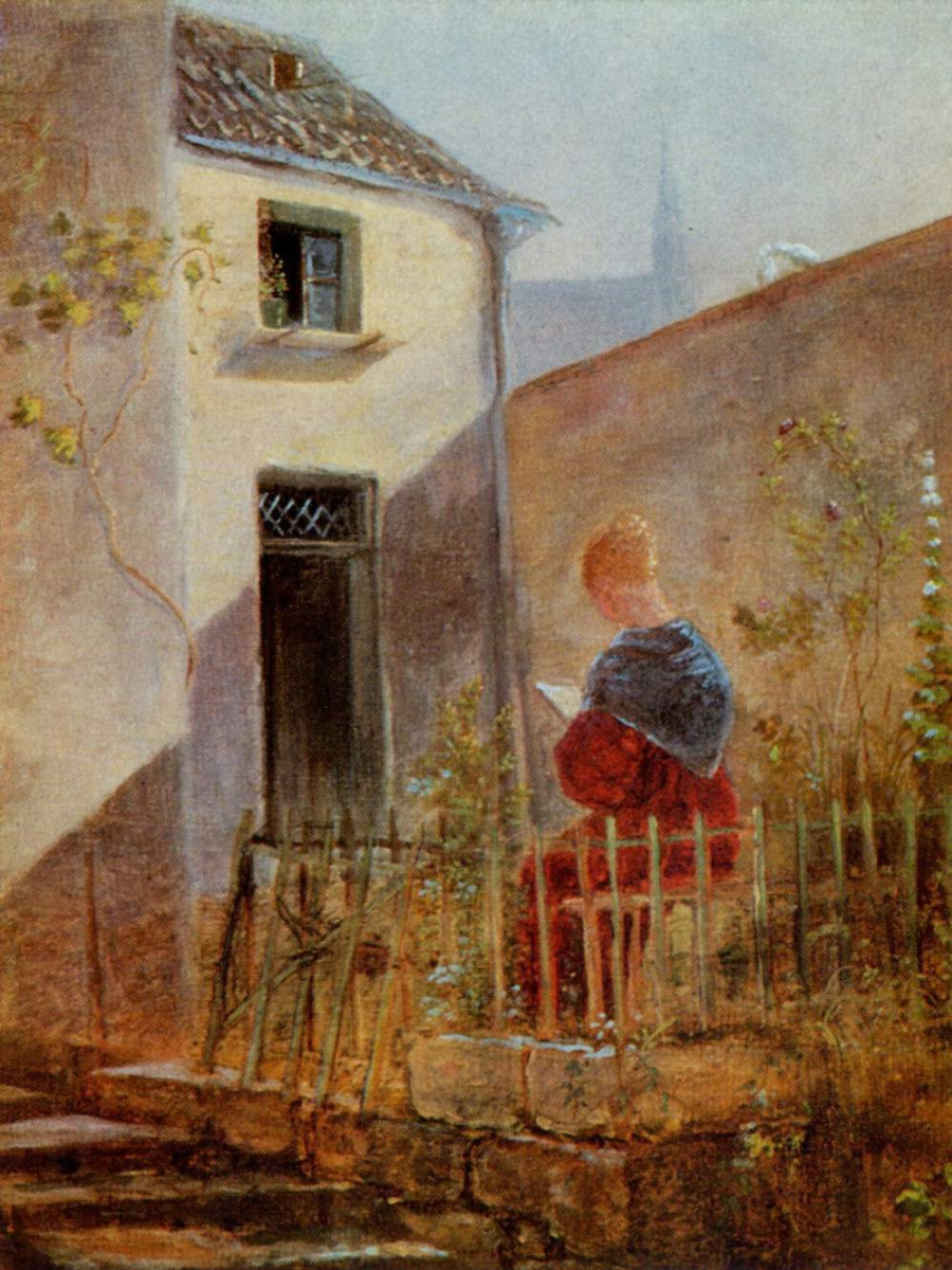 Karl Spitzweg. In the garden