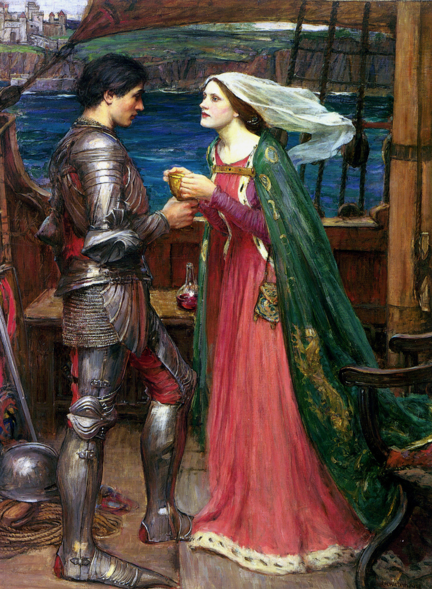 John William Waterhouse. Tristan and Isolde with the potion
