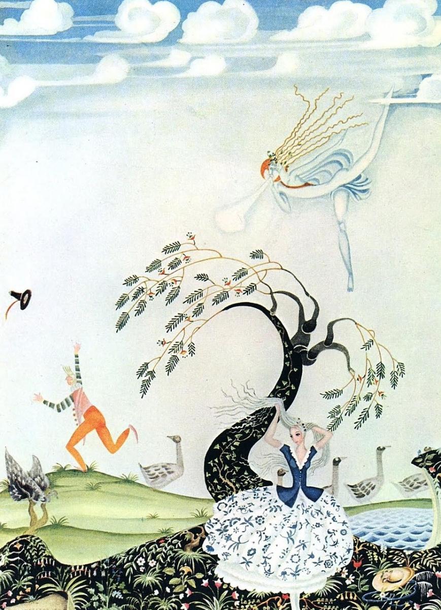 Кей Нильсен. Иллюстрация к сказке Гусятница