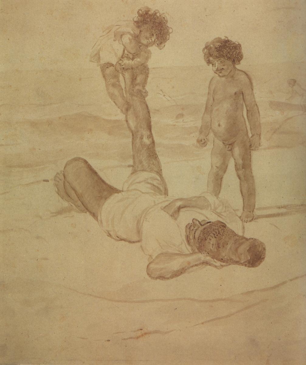 "Карл Павлович Брюллов. Лаццарони и дети. Из серии ""Лаццарони на берегу моря"""