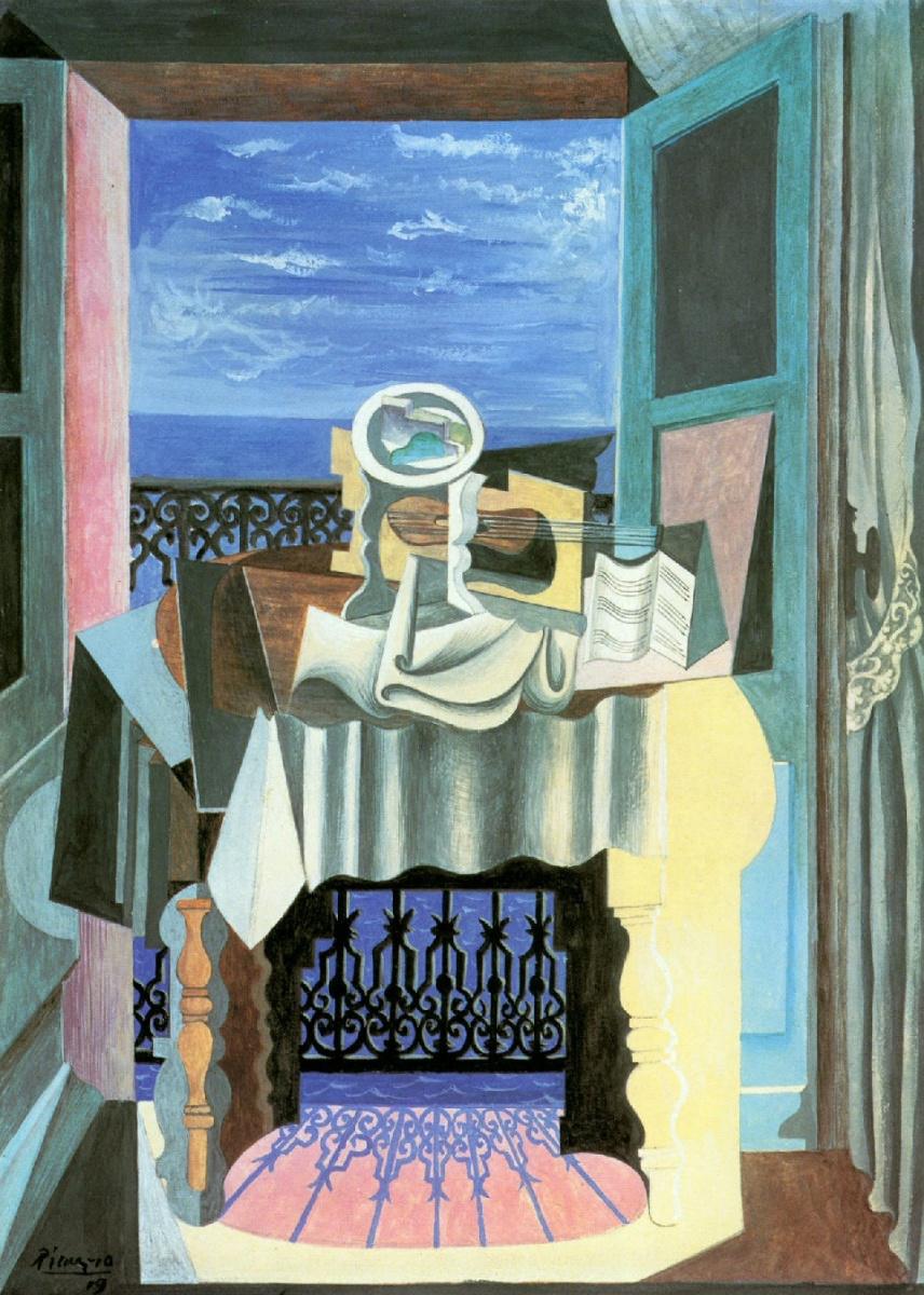 Пабло Пикассо. Натюрморт перед окном в Сан-Рафаэле
