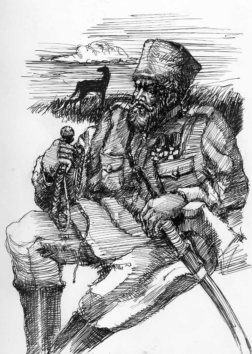 Oleg Denginov. Cossack on vacation