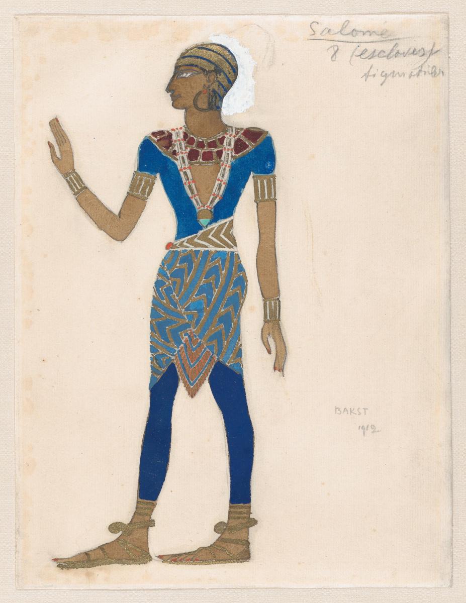 "Lev Samoilovich Bakst (Leon Bakst). Slave. Costume design for the ballet ""the Tragedy of Salome"""
