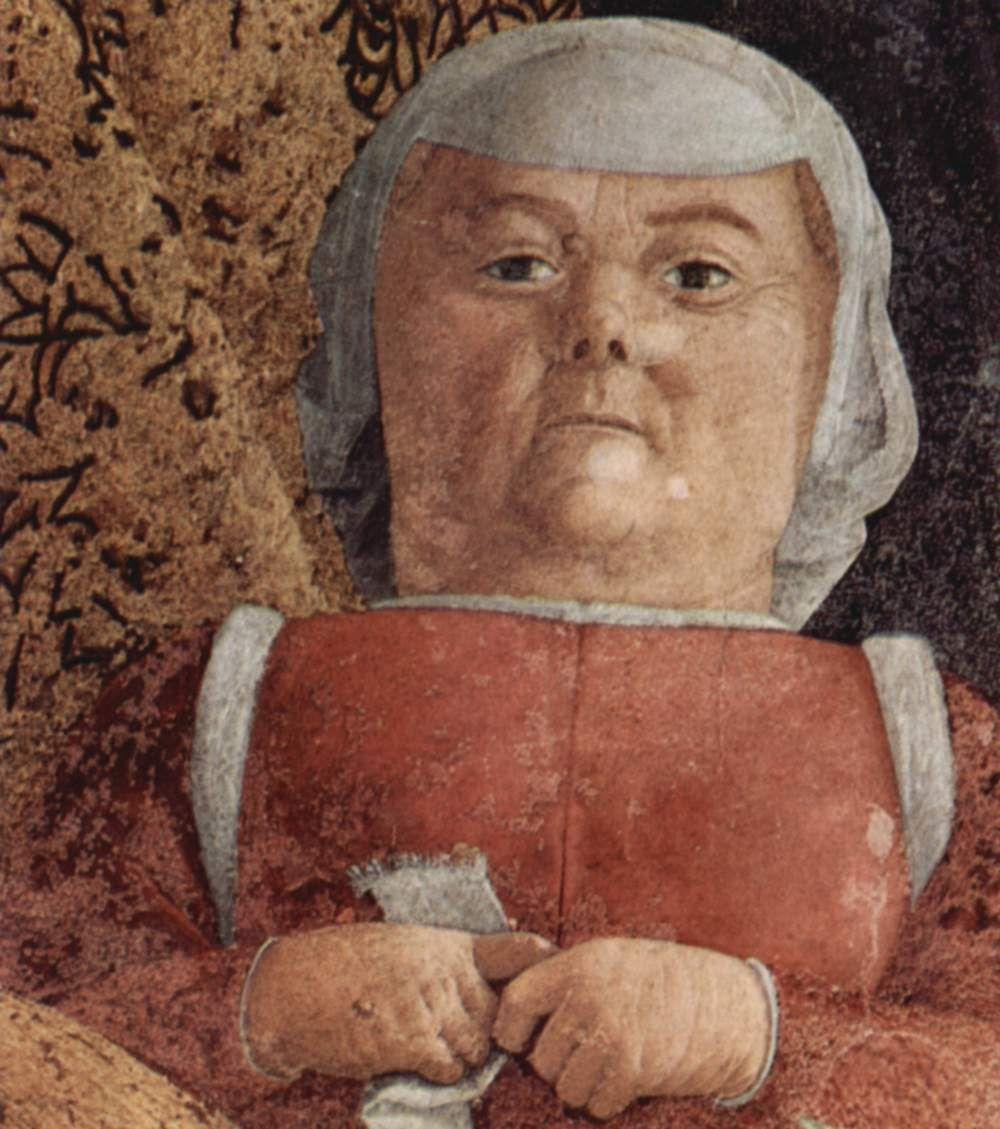 Андреа Мантенья. Двор Гонзага, фрагмент: карлица. Камера дельи Спози