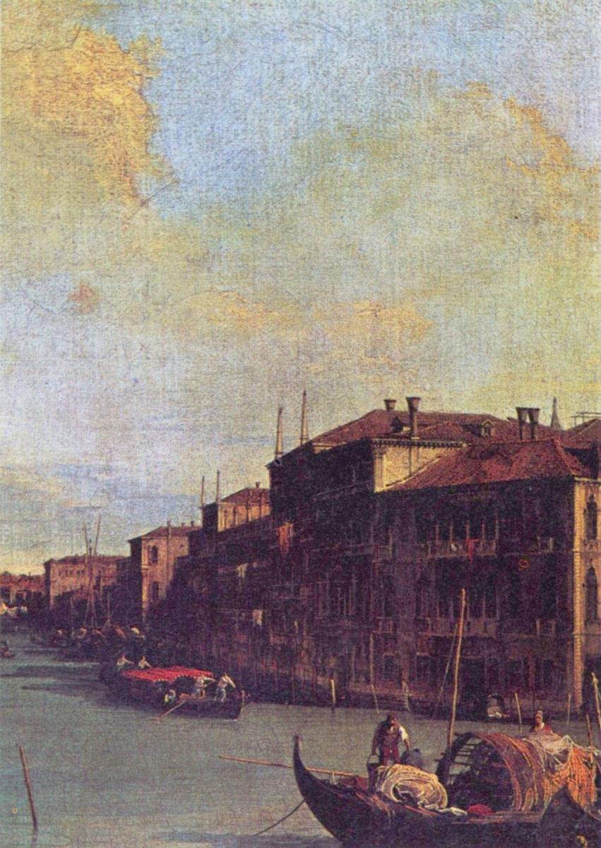 Джованни Антонио Каналь (Каналетто). Большой канал в Венеции, фрагмент