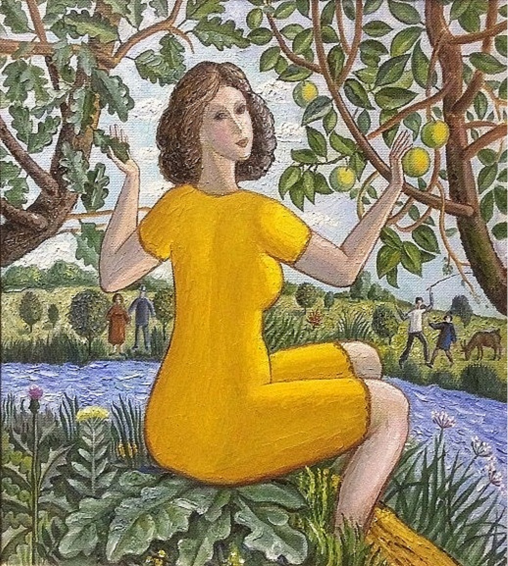 Vladimir Petrovich Chernov. Yellow apples
