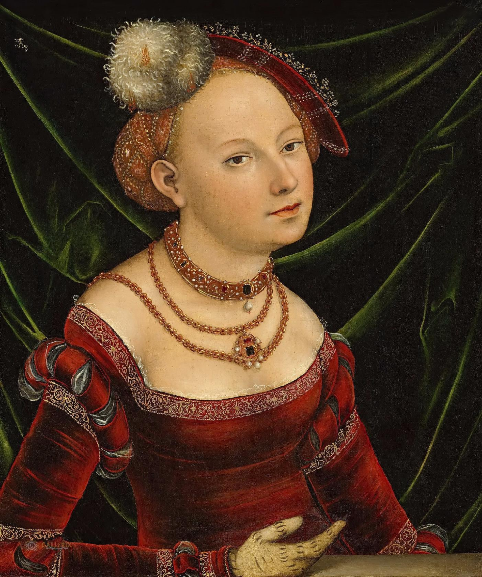 Lucas the Younger Cranach. Female portrait. Private collection.
