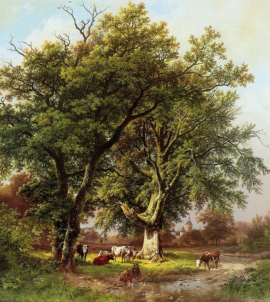 Barend Cornelis Kukkuk. Beech in front of the castle Moyland