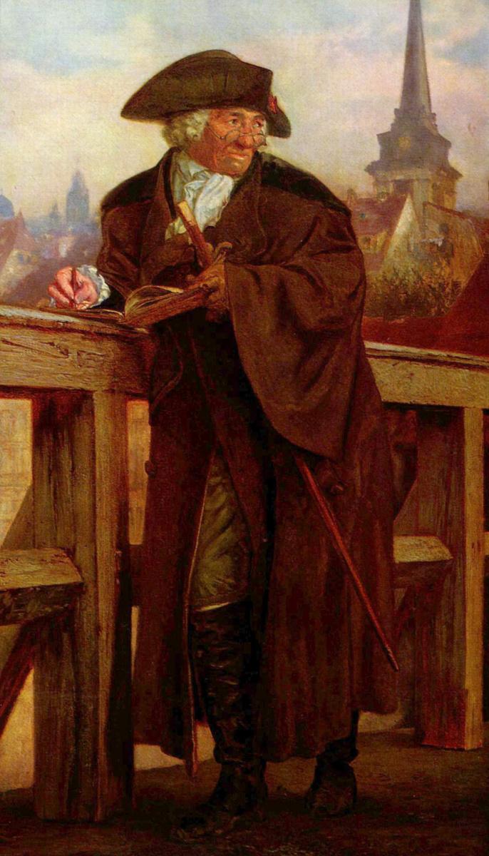 Адольф фон Менцель. Ходовецкий на Яновицком мосту