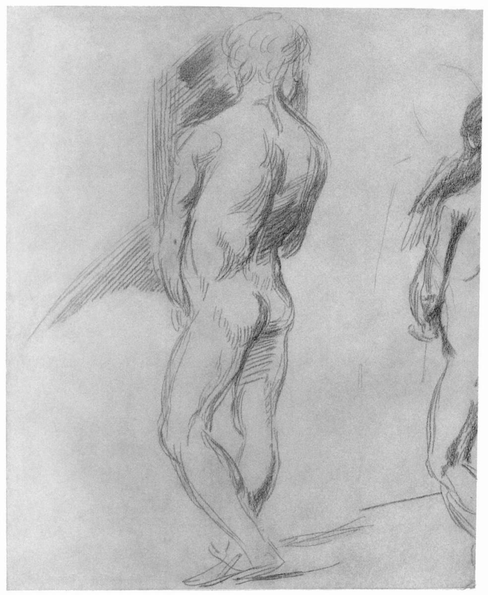 Ханс фон Маре. Обнаженная мужская фигура, со спины