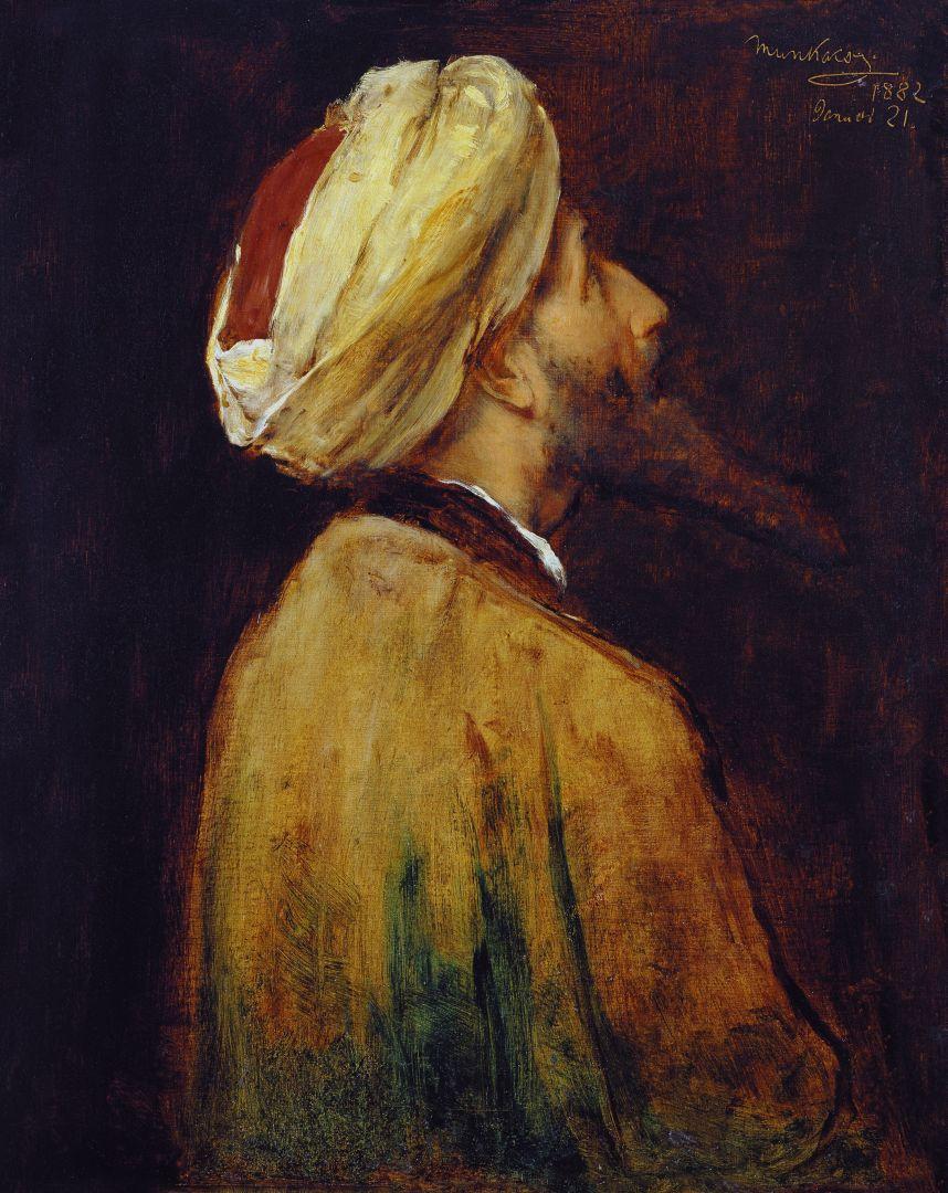 """Михай Либ Мункачи. Портрет мужчины в тюрбане. Эскиз для картины """"Христос перед Пилатом"""""""