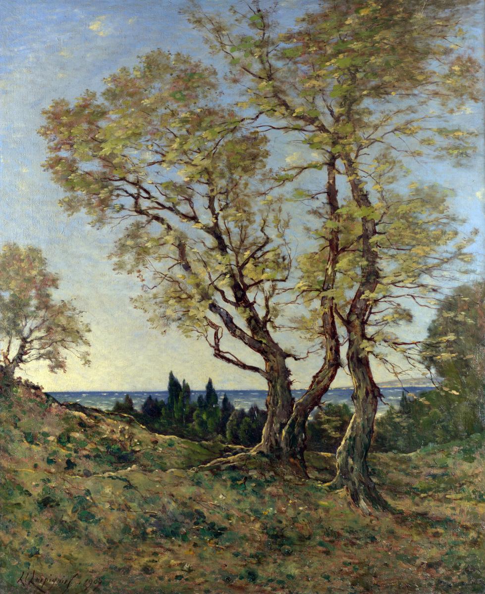 Анри-Жозеф Харпигниес. Оливковые деревья в Ментоне