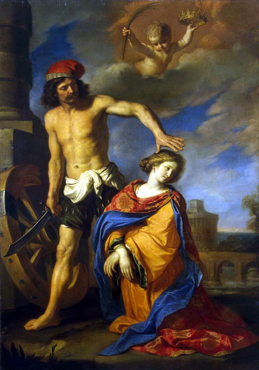 Джованни Франческо Гверчино. Мученичество Святой Екатерины