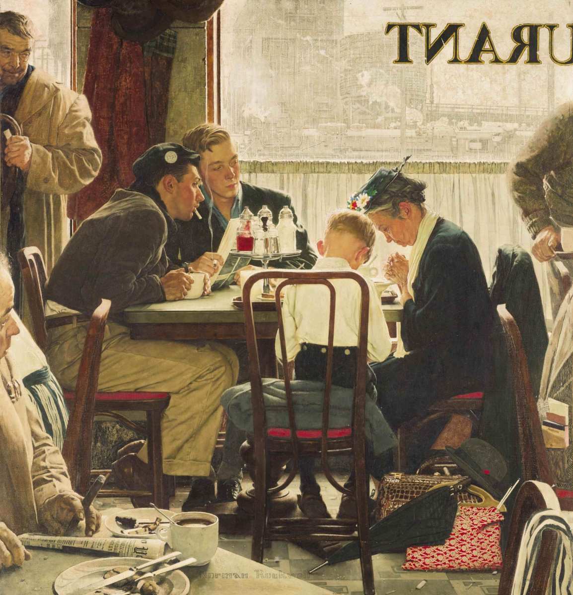 Norman Rockwell. Saying Grace
