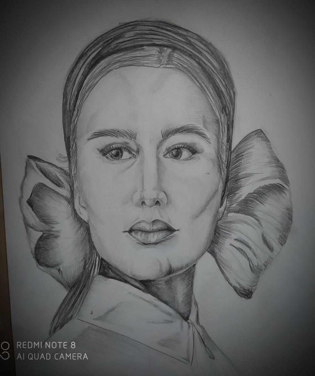Alexandra Patokina. Girl with bow