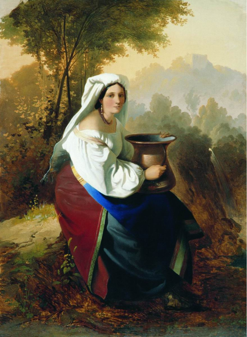 Timofey Andreevich Neff. Woman with a jug. State Russian Museum, St. Petersburg