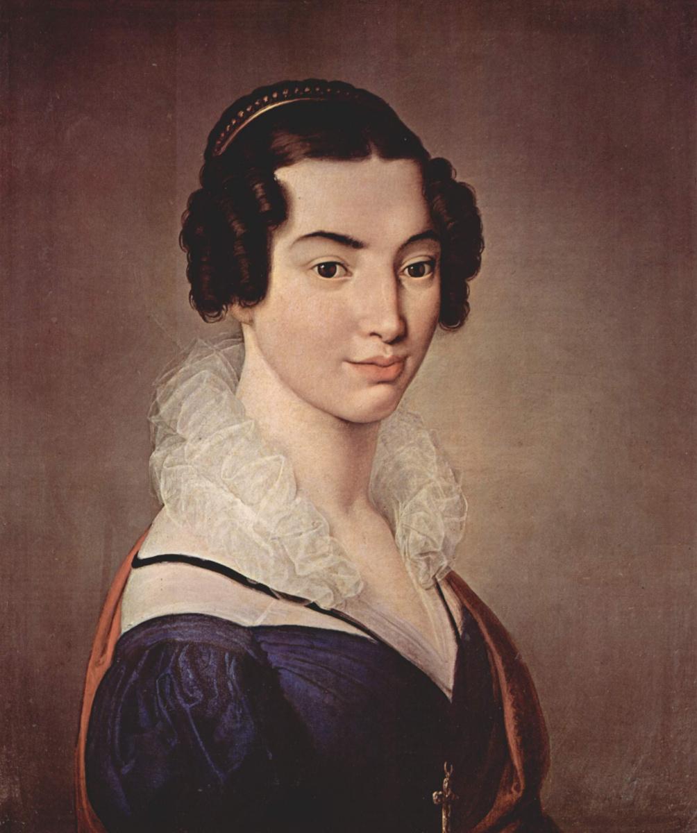 Франческо Айец. Женский портрет. Антоньетта Витали Сола