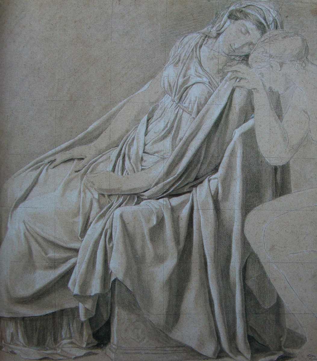 """Jacques-Louis David. Camille (""""a sketch for the oath Horatii"""")"""