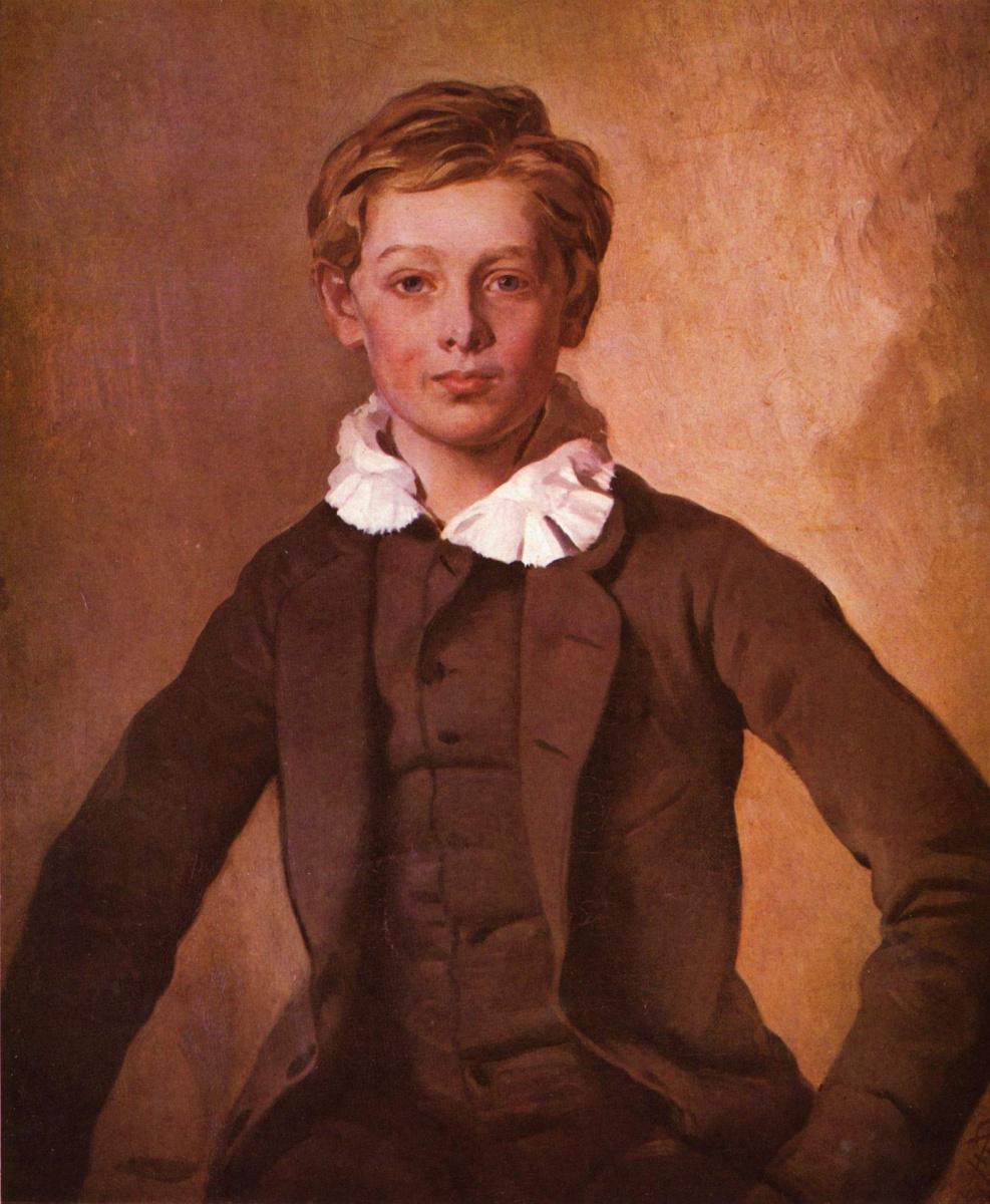 Louis Ferdinand von Rayski. Portrait of Hans Haubold count von Einsiedeln