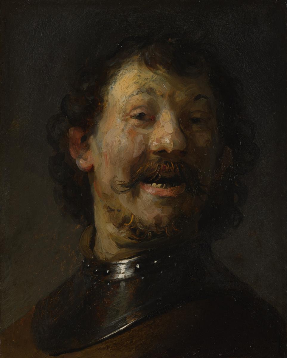 Рембрандт Харменс ван Рейн. Смеющийся мужчина