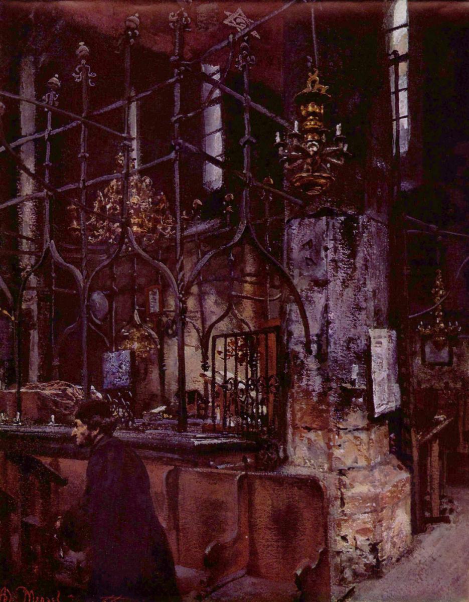 Адольф фон Менцель. Старо-новая синагога в Праге