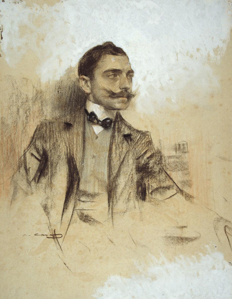 Рамон Касас Карбо. Портрет Мануэля Бенедито