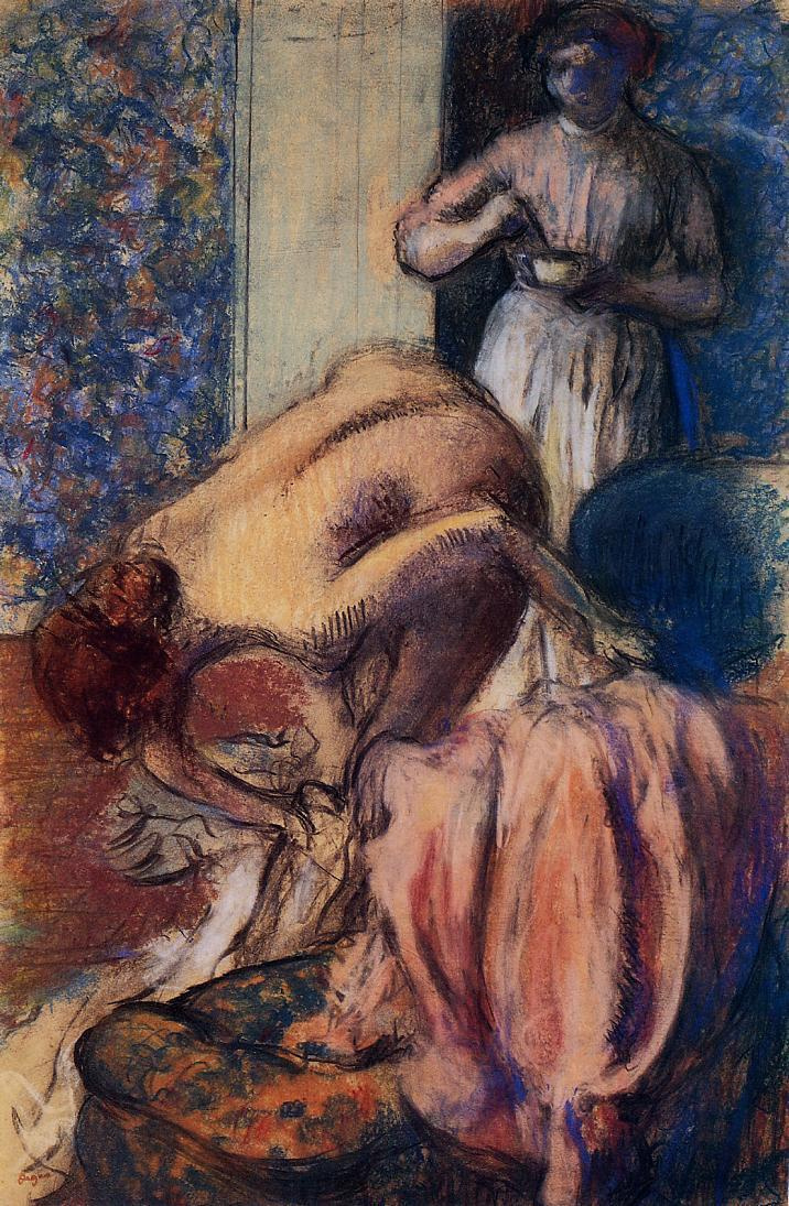Edgar Degas. Breakfast after bathing. A Cup of coffee