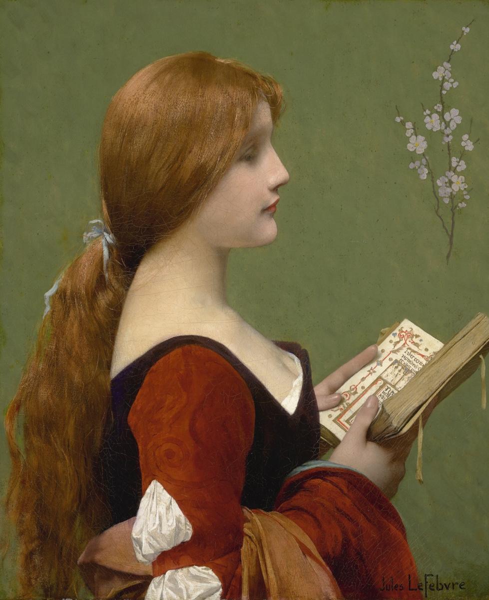 Jules Joseph Lefebvre. Red-haired Jeanne.
