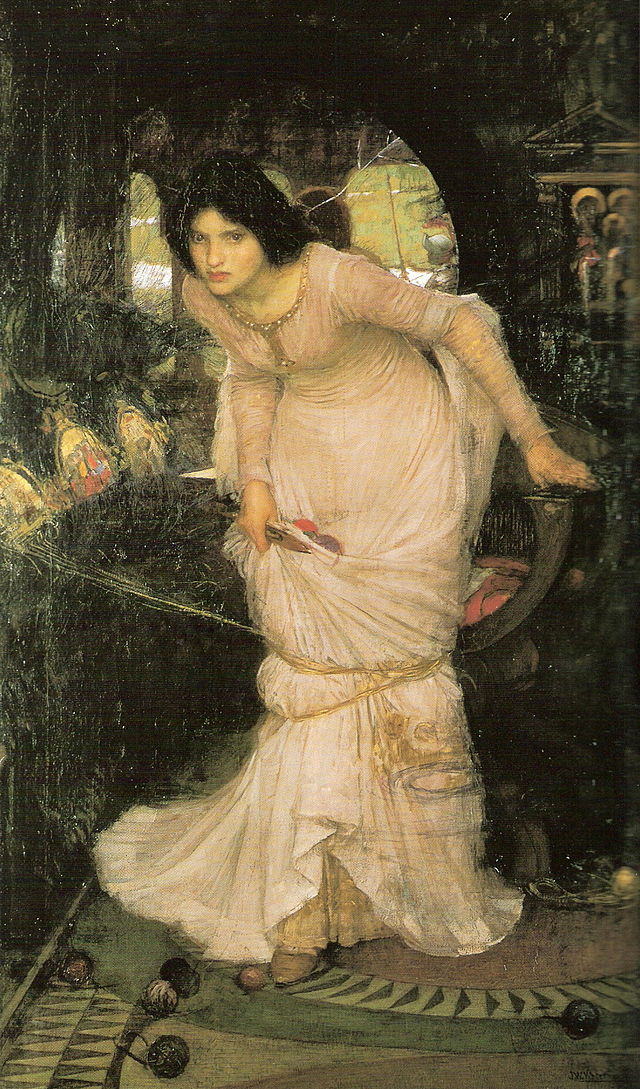 John William Waterhouse. Lady shallotte looking at Lancelot