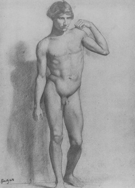 Эдгар Дега. Натурщик с согнутой левой рукой