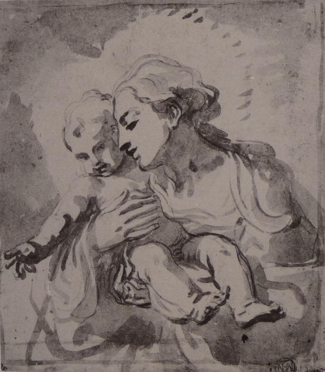 Элизабетта Сирани. Мадонна с младенцем